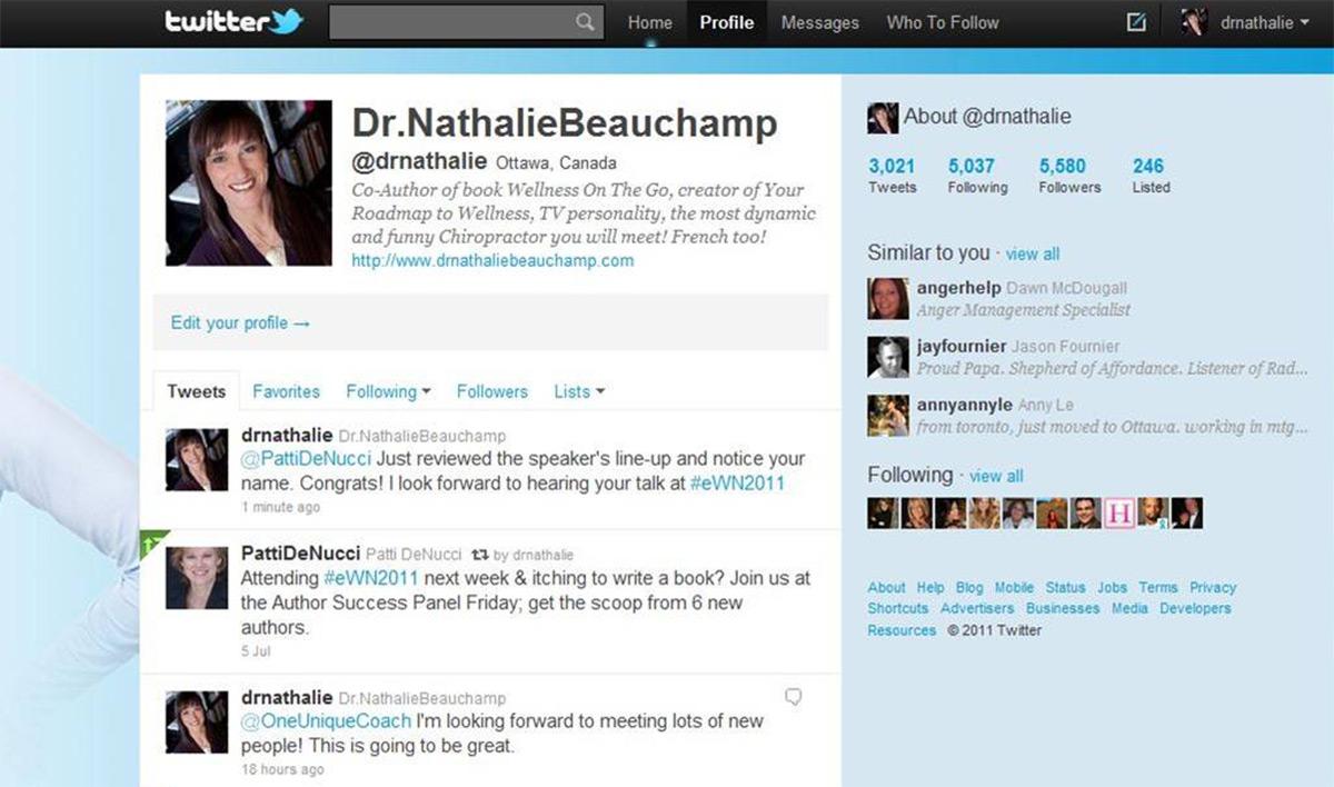 Diseño web responsive de twitter