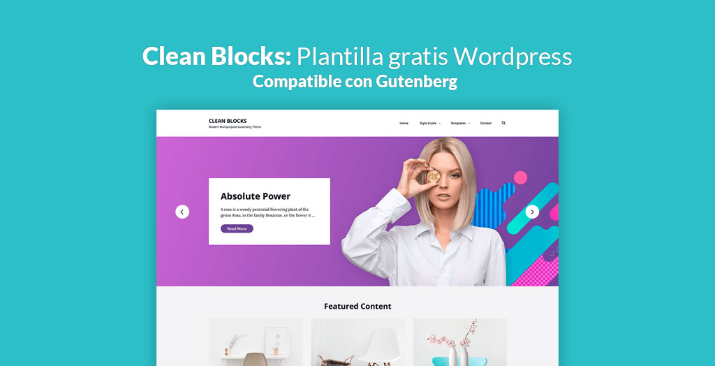 Clean blocks plantilla gratis para wordpress