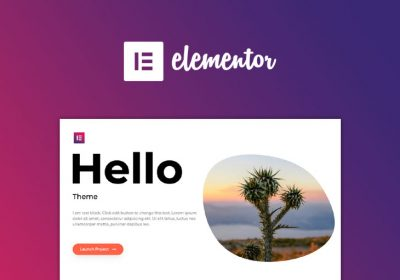 Hello Theme, nueva plantilla para Elementor Page Builder
