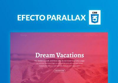 Cómo crear un efecto parallax con CSS