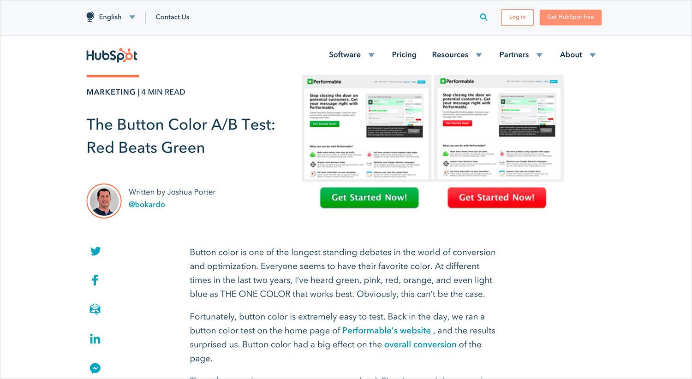 test de color en hubspot