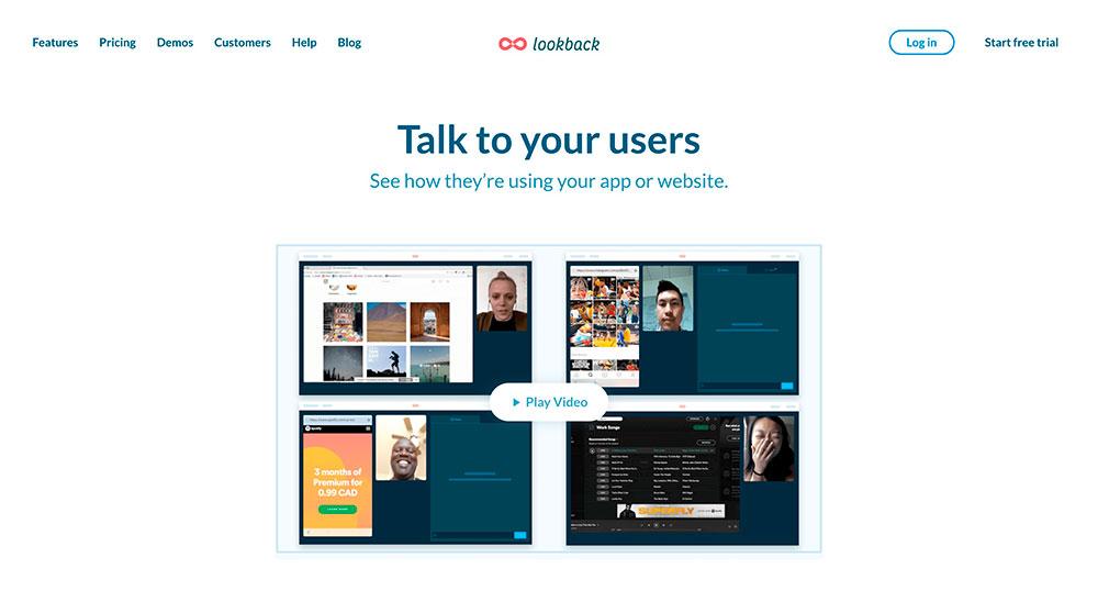 Lookback mejorar la experiencia de usuario