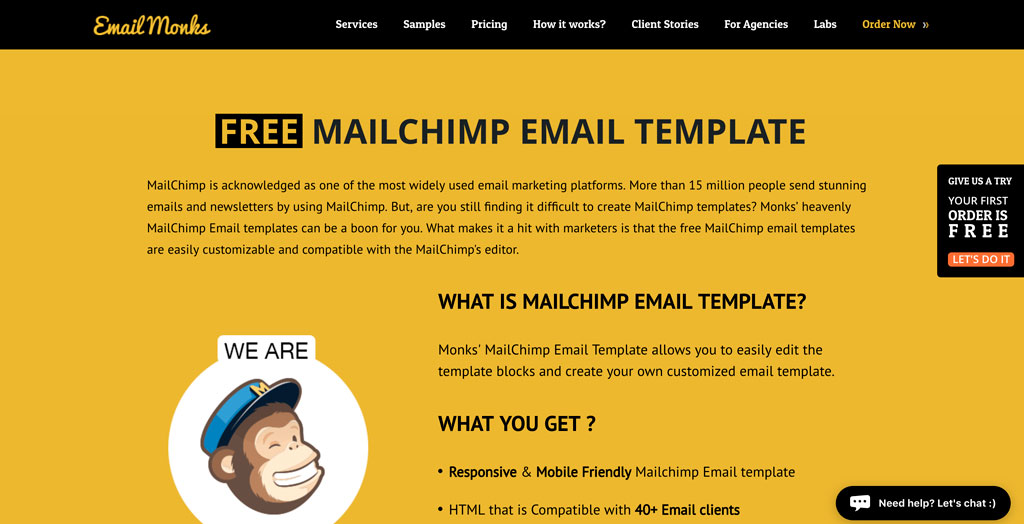 Email Monks MailChimp Master Template