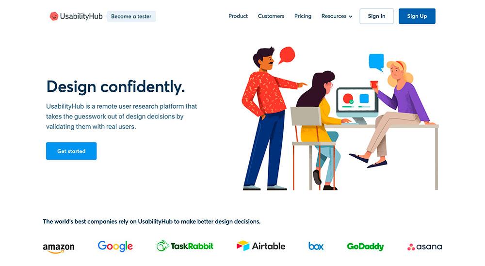 UsabilityHub Herramientas para mejorar la experiencia de usuario