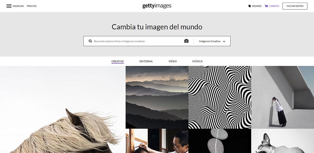 Getty Images descargar imágenes premium