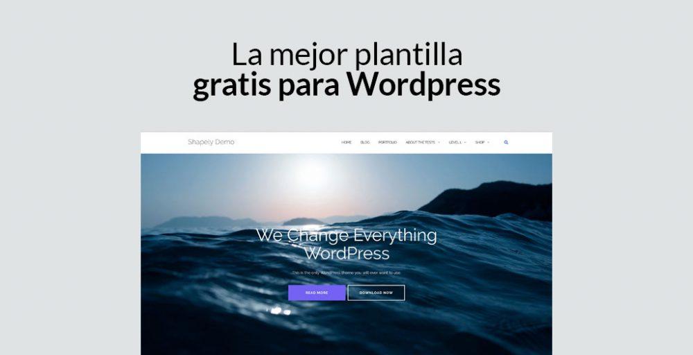 plantilla gratis para Wordpress