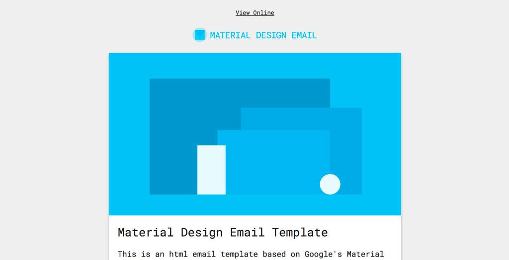 Plantilla para newsletter Material Design