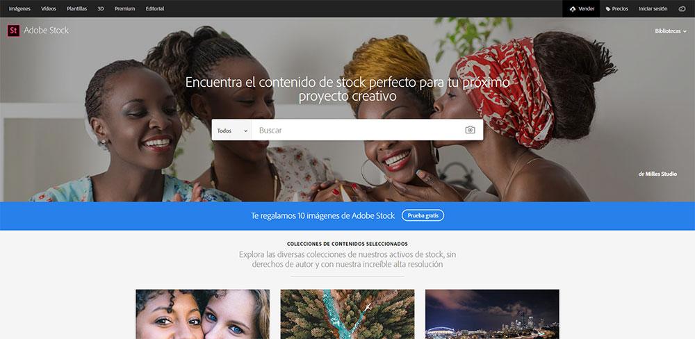 Adobe Stock descargar imágenes premium