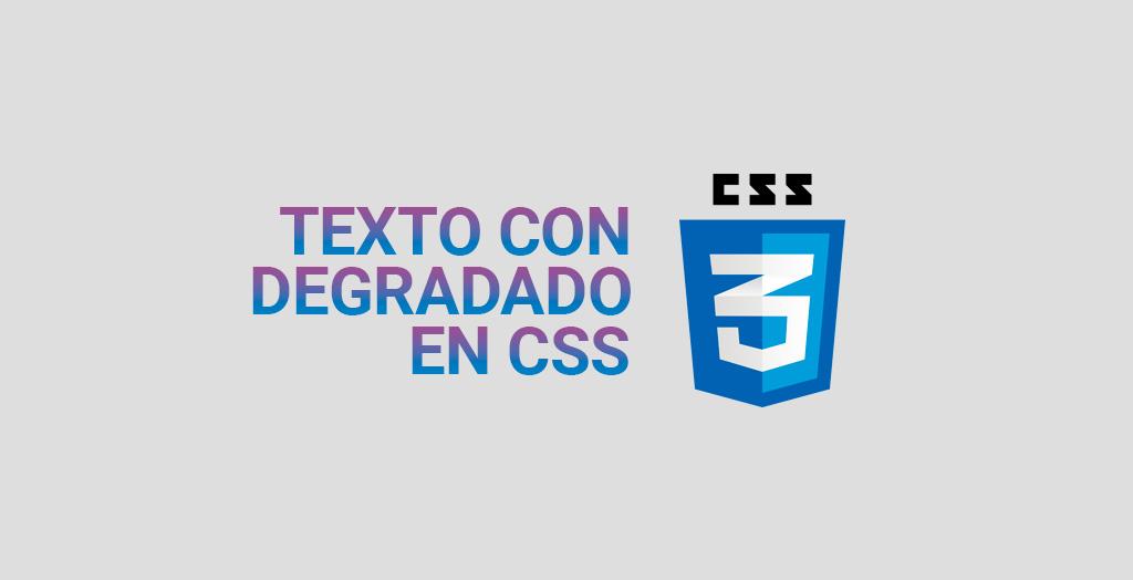 Texto con degradado en CSS
