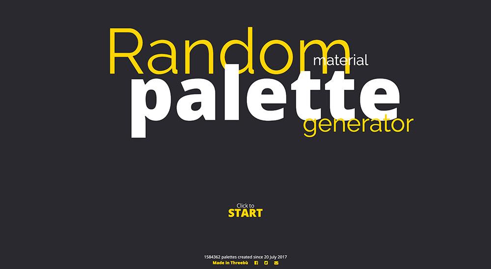Random Material Palette Generator