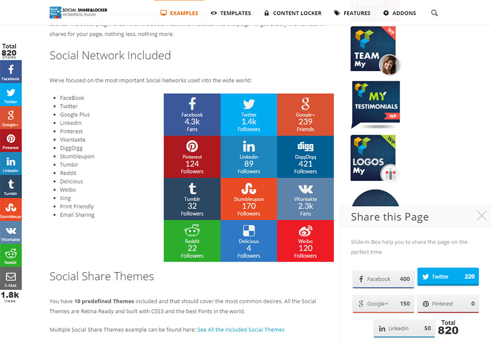 Social Share & Locker Pro