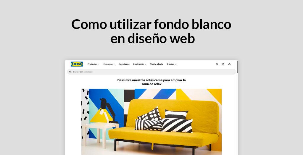 uso de fondo blanco en diseño web