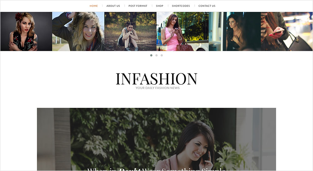 InFashion plantilla wordpress