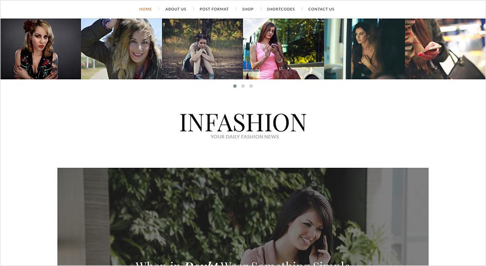 InFashion plantilla wordpress