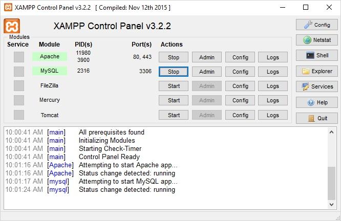 instalar XAMPP en Windows 10