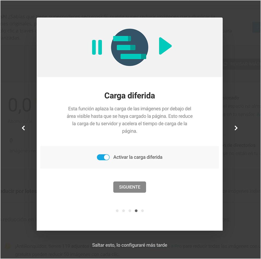 Carga diferida Optimizar imágenes en WordPress