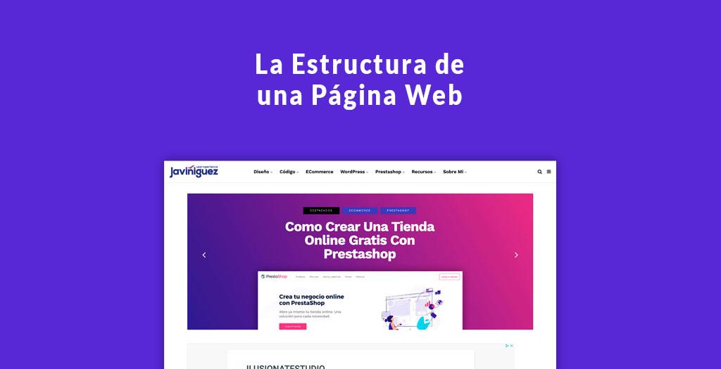 la estructura de una página web