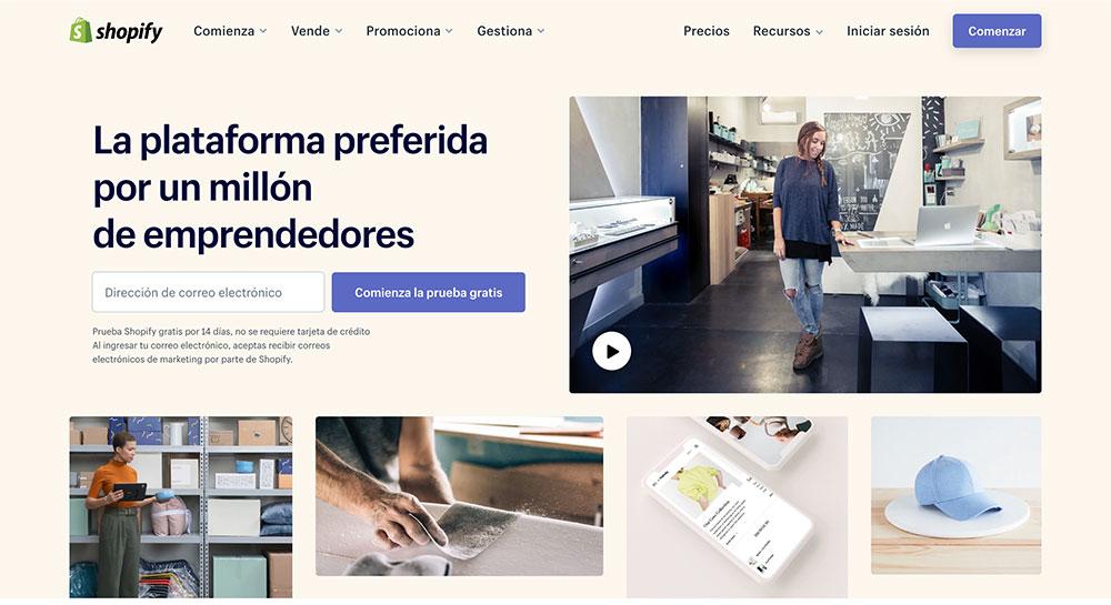 Shopify: Vender productos online