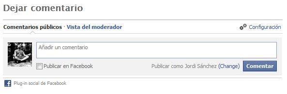 comentarios de Facebook en WordPress