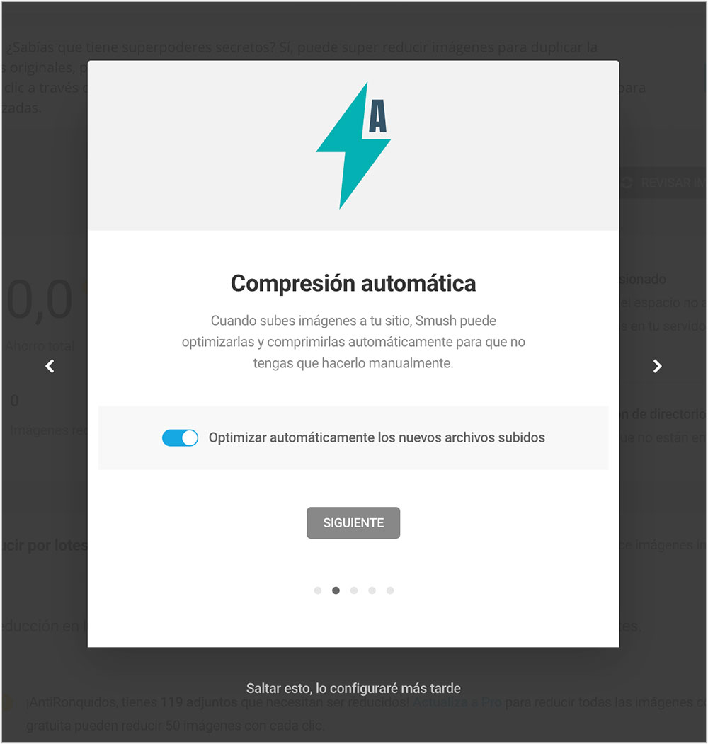 Compresión automática Optimizar imágenes en WordPress