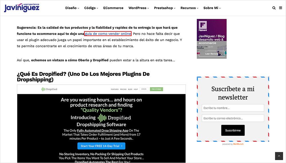 las páginas web incluyen enlaces Estructura de una Página Web