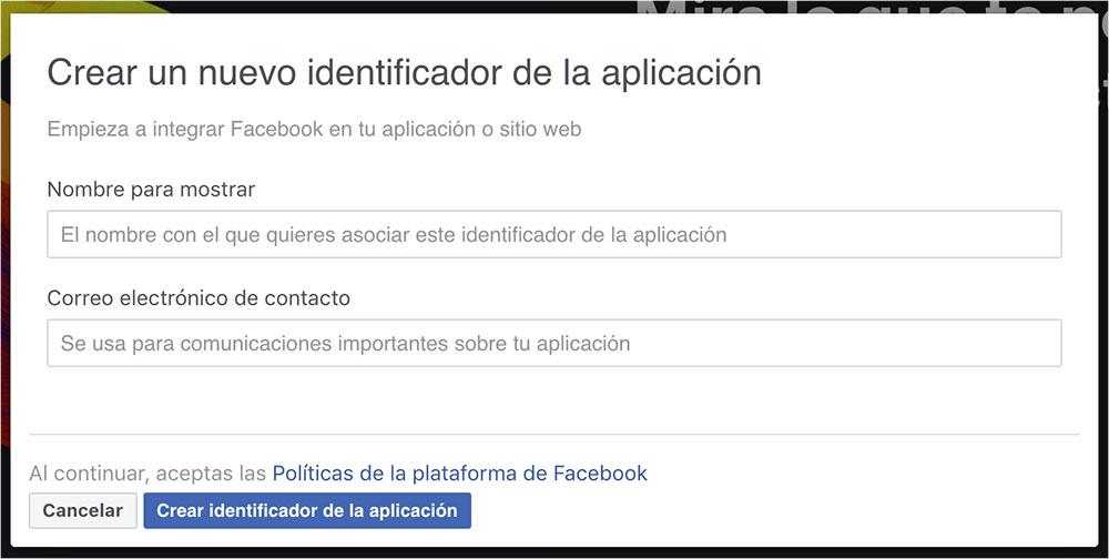 Crear una aplicación de facebook