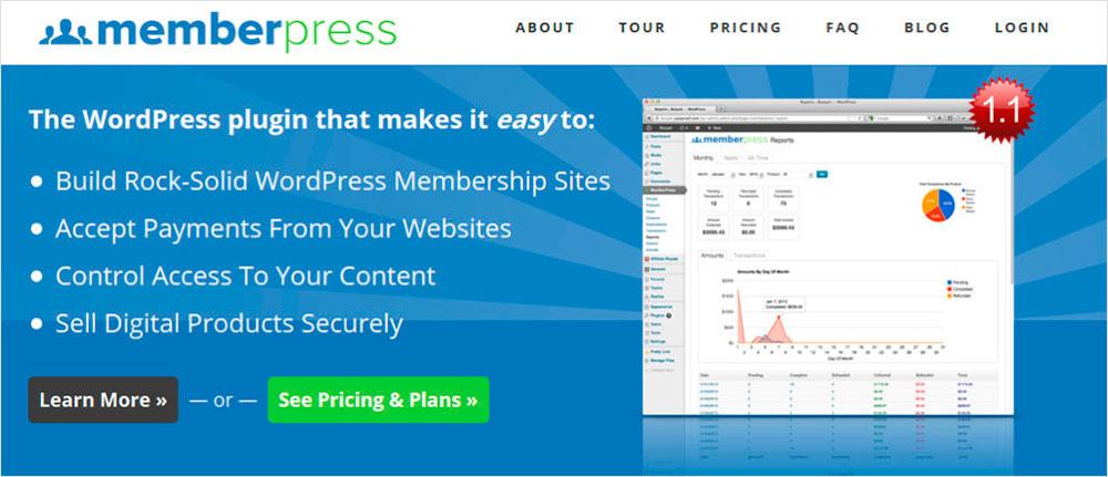 MemberPress plugins de suscripciones para WordPress