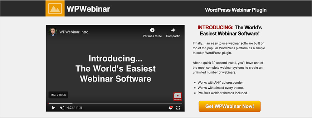 WP Webinar (Plugin para webinar en WordPress)