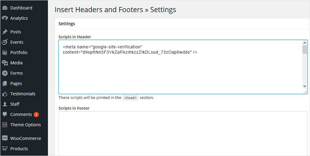 activar el plugin Insert Headers and Footers