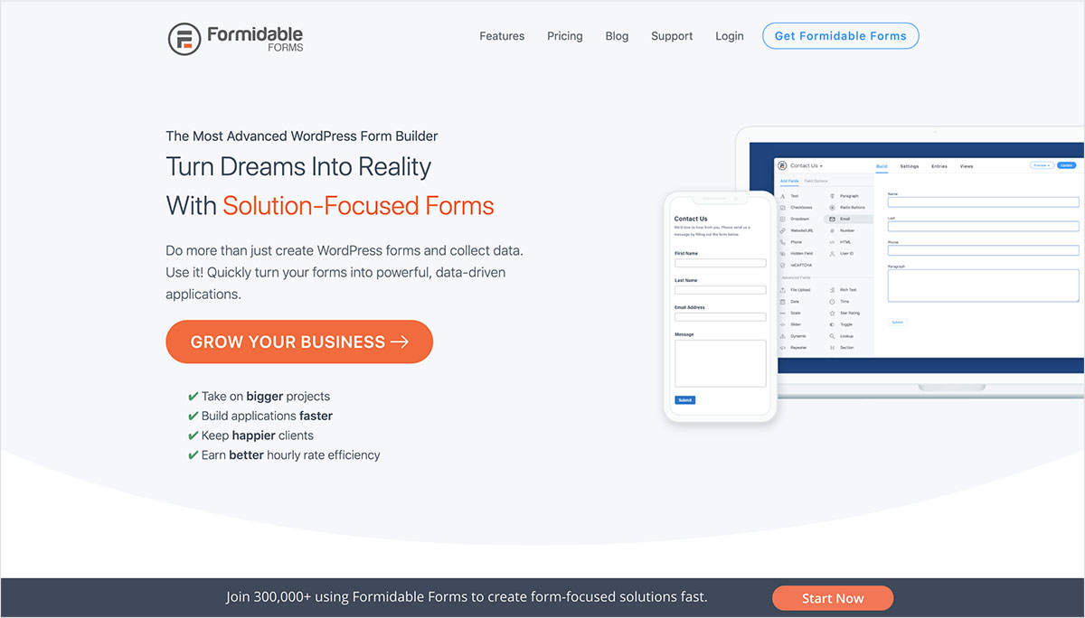 Formidable Form plugins para directorios web