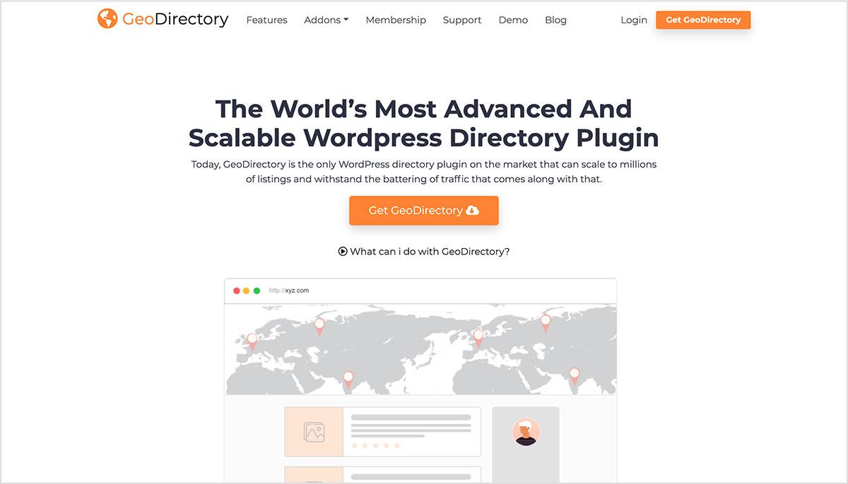 GeoDirectory plugins para directorios web