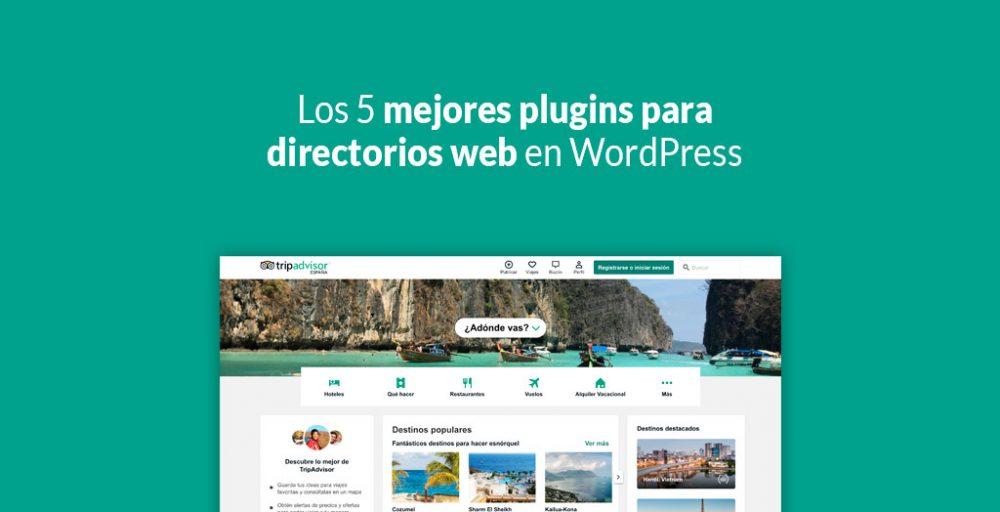 Los 5 mejores plugins para directorios web en WordPress