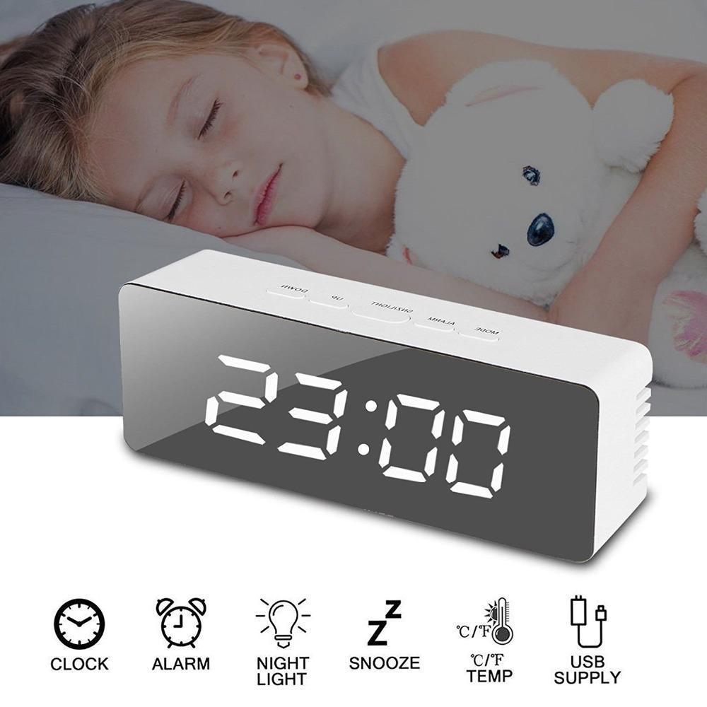 Reloj de alarma con espejo mejores productos de dropshipping