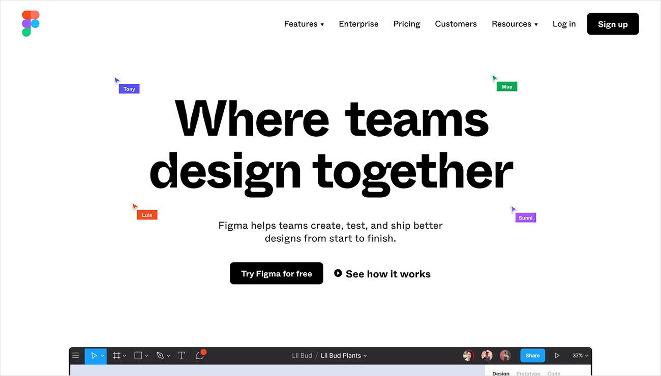 Figma herramientas de diseño IU/UX
