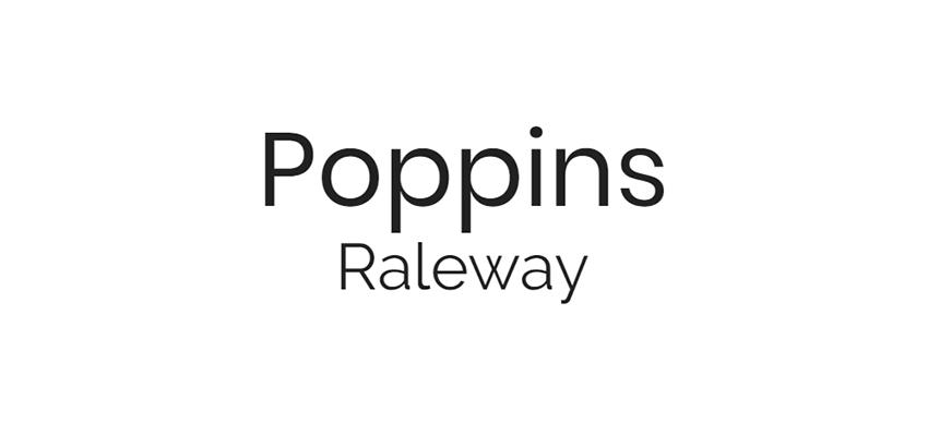 Poppins y Raleway