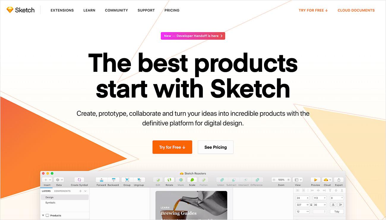 Sketch herramientas de diseño IU/UX