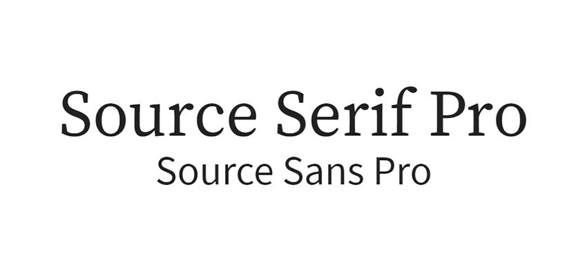 Source Serif Pro y Source Sans Pro