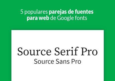 fuentes para web de Google fonts