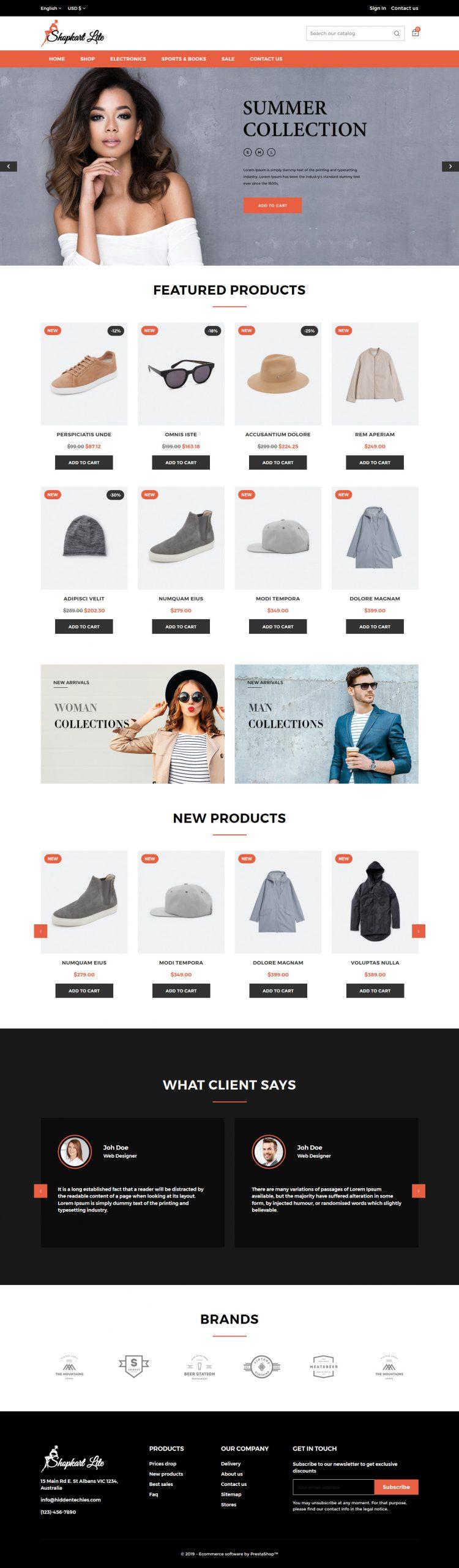 Shopkart Lite - Plantillas gratis para PrestaShop