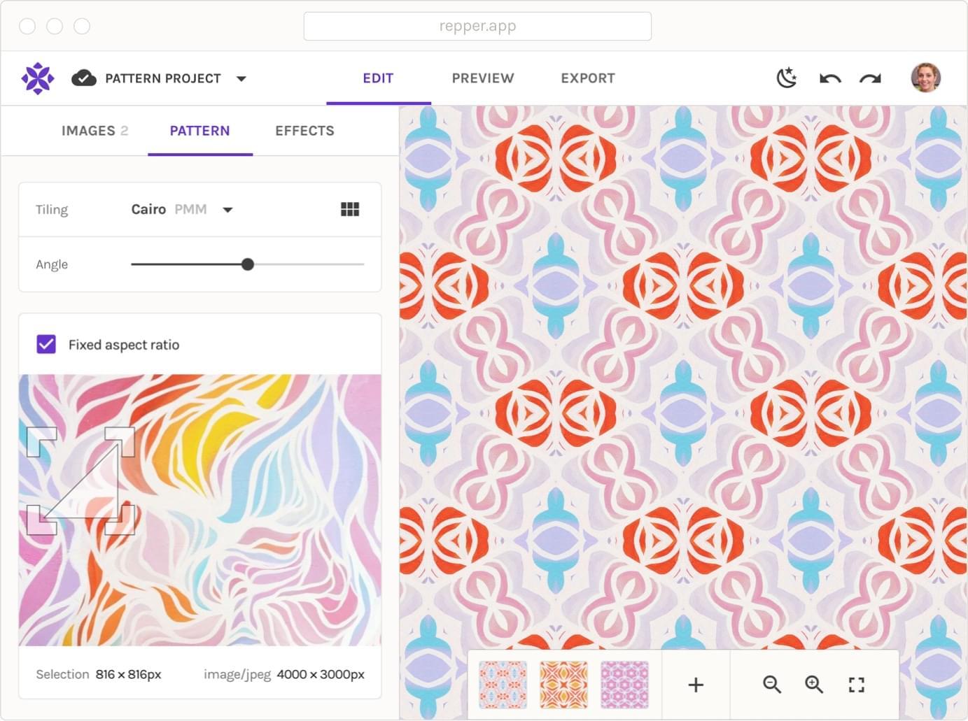 Repper herramienta para crear patrones