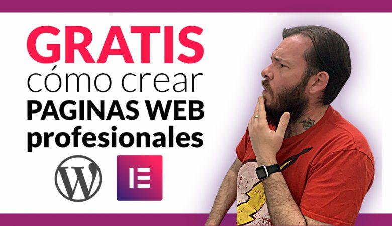 Curso cómo crear páginas profesionales con Wordpress y Elementor