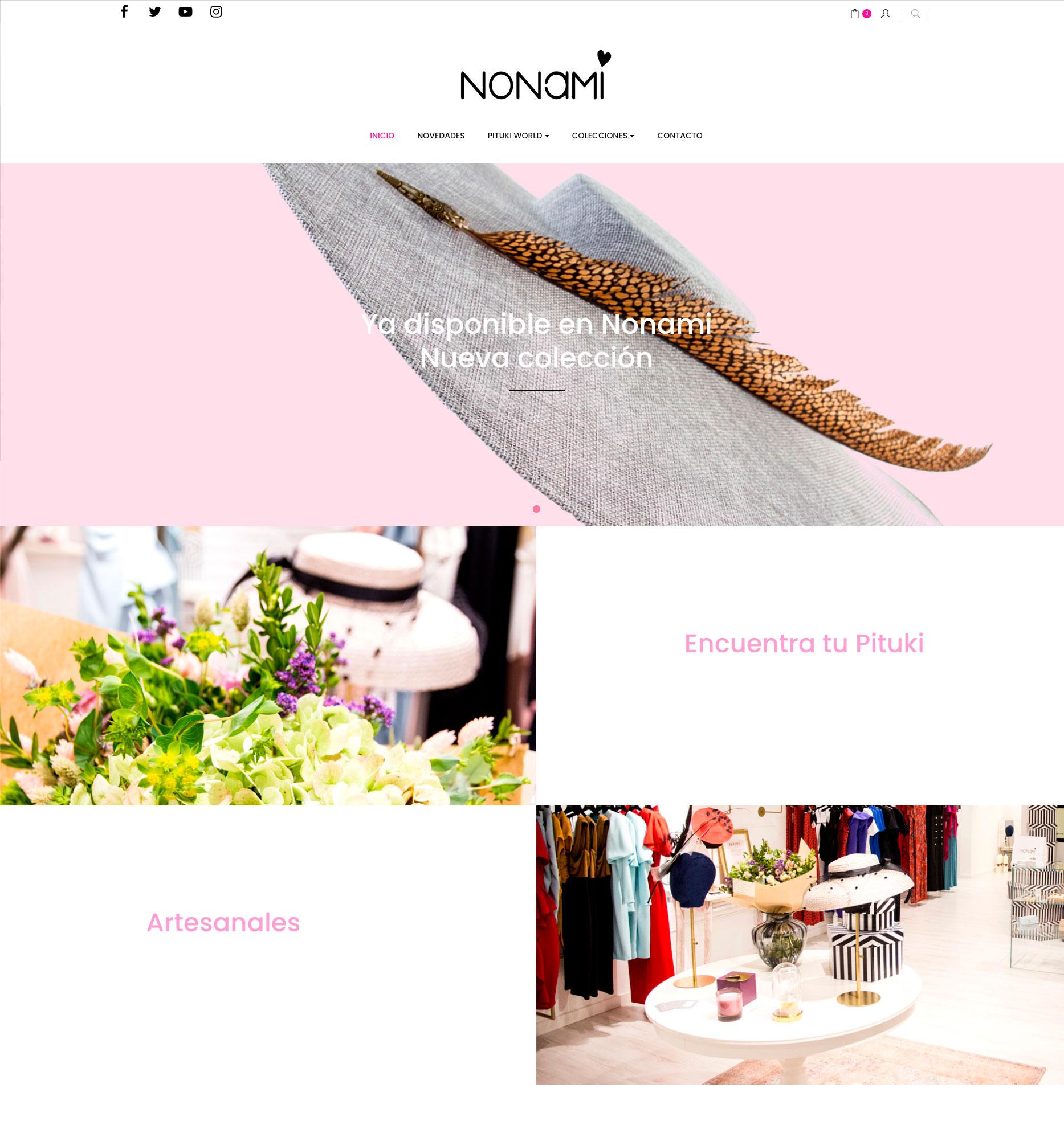 proyecto web tienda online nonami