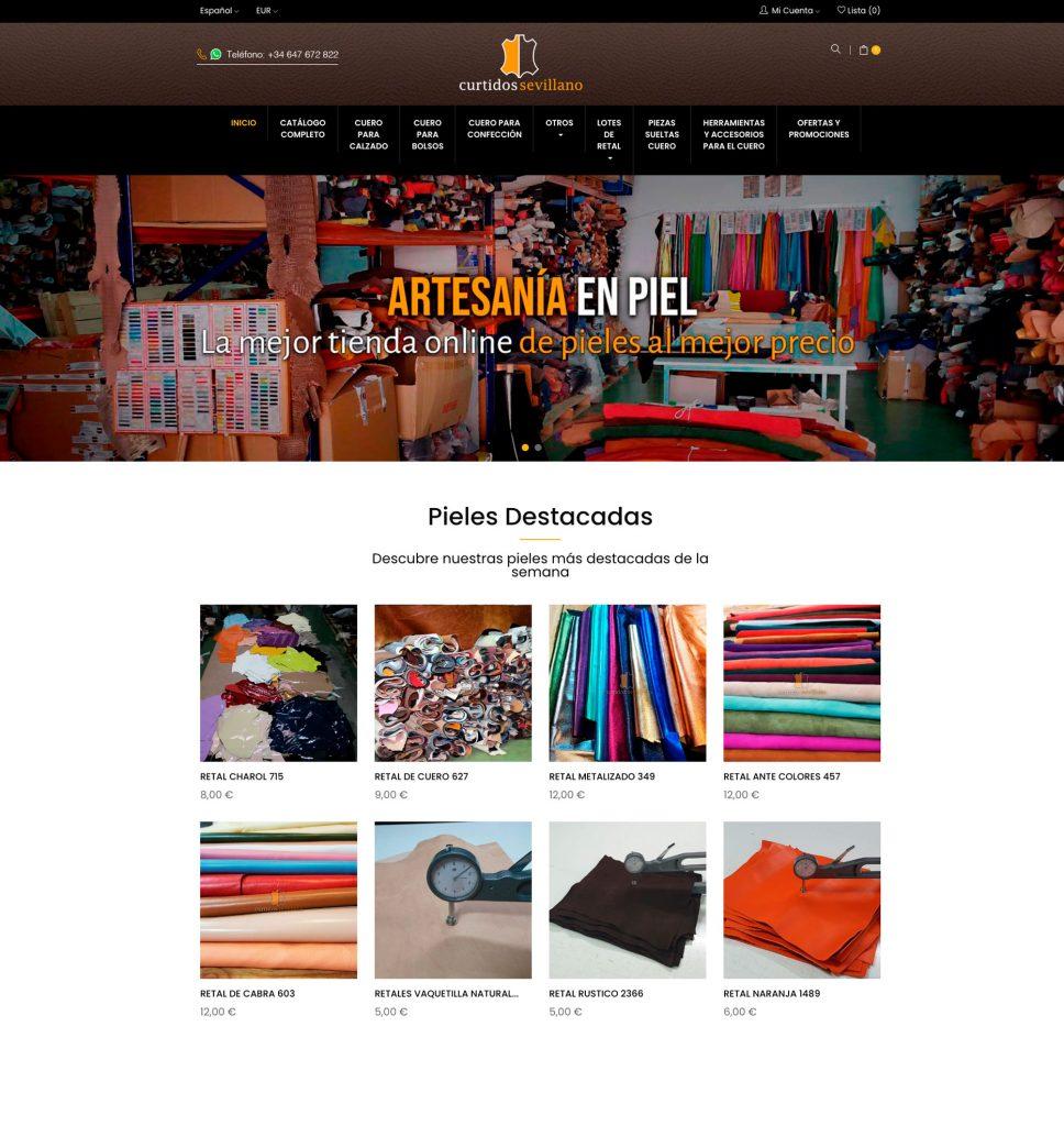 tienda online curtidos sevillano