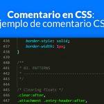 Comentario en CSS: Ejemplo de comentario CSS
